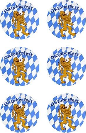 Oktoberfest Bierviltjes Magnetisch 6 stuks