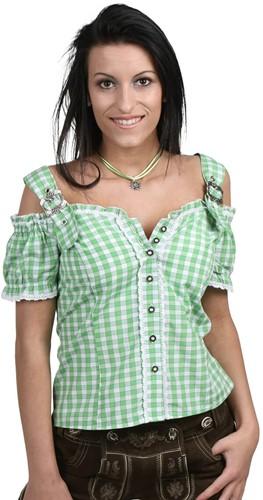 Luxe Tiroler Blouse Groen Anne
