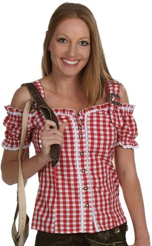 Luxe Tiroler Blouse Rood Anne