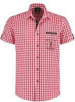 Trachtenhemd Rood/Wit Korte Mouw (100% katoen)