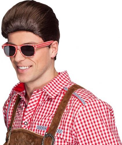 Oktoberfest Bril Rood-Wit-2