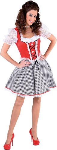 Dirndl Nicky Velours Rood