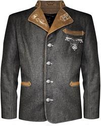 Luxe Tiroler Trachtenjas (Geitenleer/Wol)