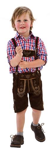 Bruine Lederhose voor kinderen (echt rundleer)