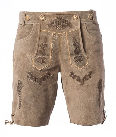 Grijze Vintage Lederhose