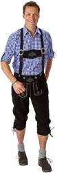Lange Lederhose Luxe Zwart (rundleer)