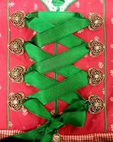 Dames Dirndl Diana Luxe Pink/Groen (50cm) -3