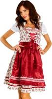 Luxe Bloemen Dirndl Lena Dark Red (3 delig)