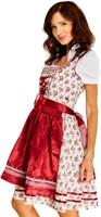 Luxe Bloemen Dirndl Lena Dark Red (3 delig)-2