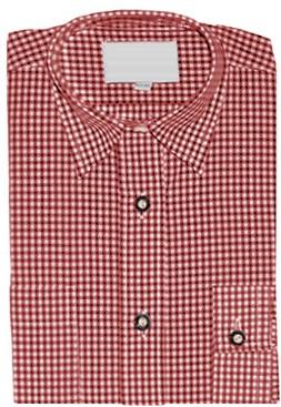 Luxe Tiroler Overhemd Rood (Kind)