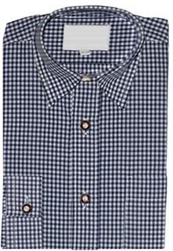 Kinder Tiroler Overhemd Blauw Luxe