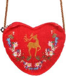 Luxe Tiroler Dirndl Tasje (Rood)