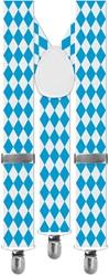 Oktoberfest Bretels Blauw/Wit