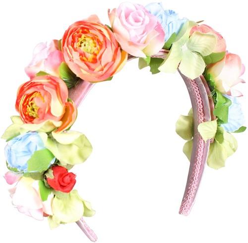 Dirndl Haarband Multi Bloemen Luxe