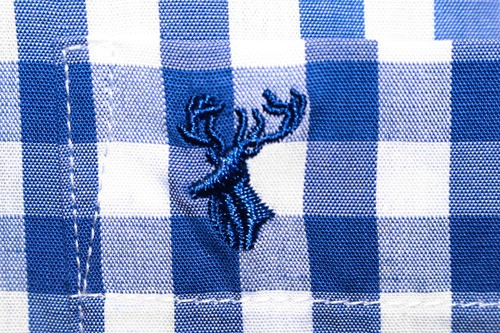 Luxe Tiroler Trachtenhemd Blauw/Wit (100% katoen)-3