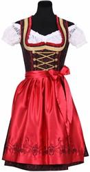 Dirndl Franziska Luxe Rood/Zwart