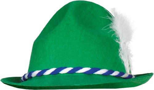 Groene Tiroler Hoed (polyester)