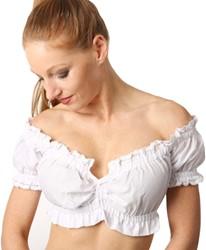 Witte Dirndl Blouse Antonia