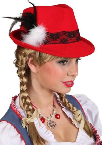 Rode Tiroler Hoed voor dames