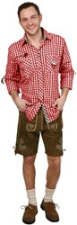 Luxe Slim-Fit Trachtenhemd Rood/Bruin