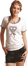 Trachten T-Shirt Wit met Hartje