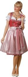 Luxe Dames Dirndl Belinda (Rood - 60cm)