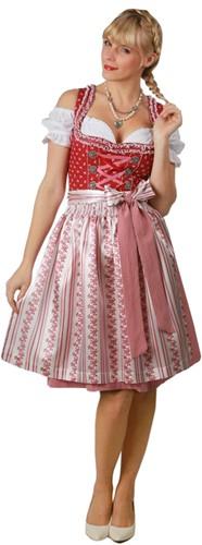 Dames Dirndl Belinda Luxe Rood (60cm)