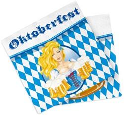 Oktoberfest Servetten Bierpullen 20st (33x33cm)