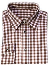 Luxe Bruin Tiroler Overhemd (katoen en polyester)