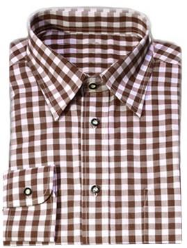 Tiroler Overhemd Bruin Luxe (katoen/polyester)