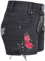 Zwarte Tiroler Dames Trachten Jeans (kort)-2