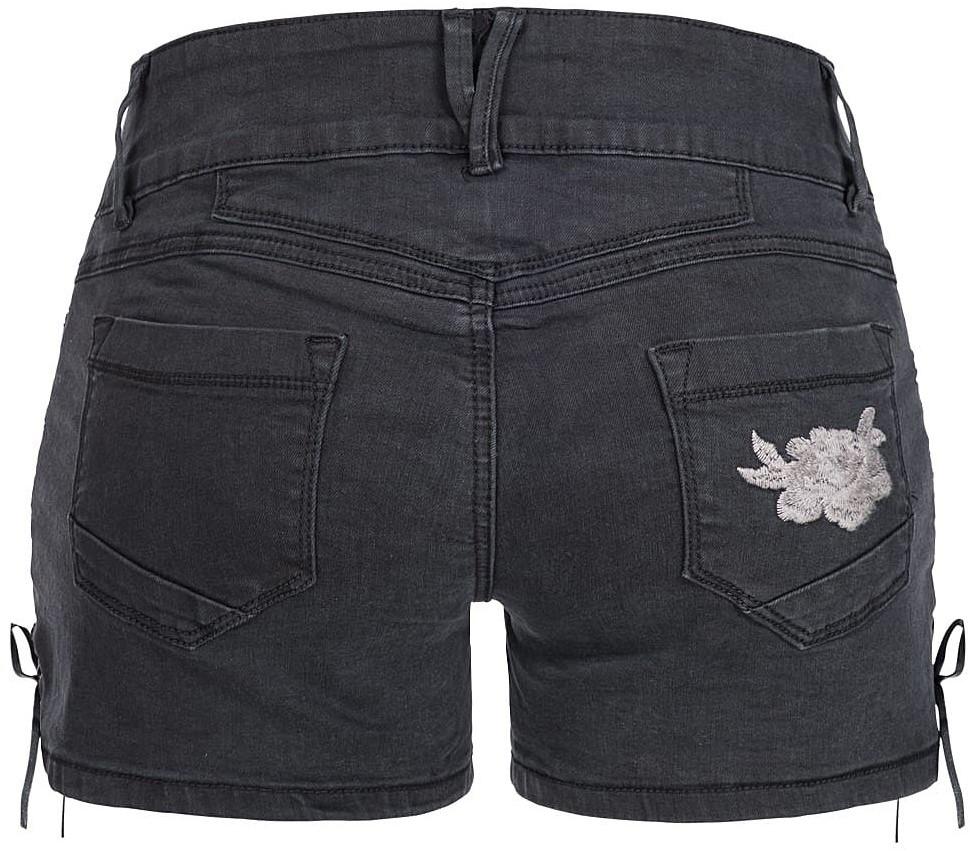 de33e3c2147894 Zwarte Tiroler Dames Trachten Jeans (kort)-3