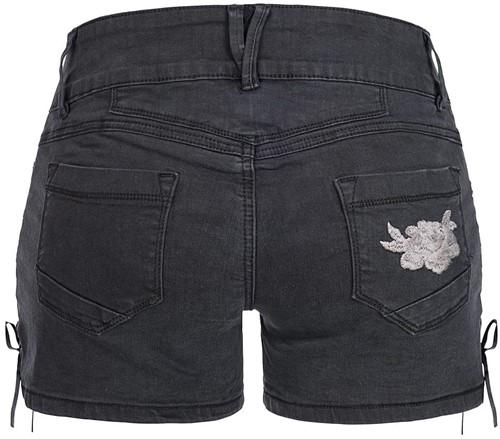 Zwarte Tiroler Dames Trachten Jeans (kort)-3