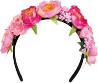 Haarband met Roze Bloemen