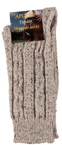 Tiroler Sokken Multi Beige (50% Merino wol)