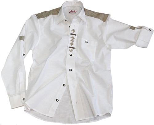Luxe Wit Trachtenhemd Origineel