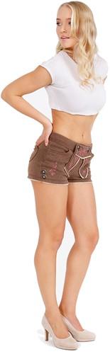 Lederhose Kort Bruin voor Dames (Joggingstof)