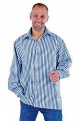 Luxe Blauw/Wit Trachtenhemd