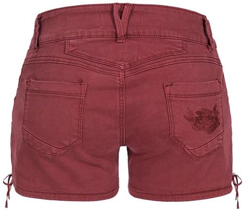 Wijnrode Tiroler Dames Trachten Jeans (kort)-3