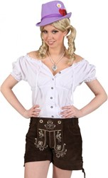 Damesblouse Tirol Wit