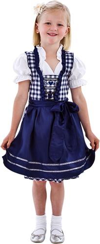 Dirndl Blauw/Wit Luxe voor meisjes