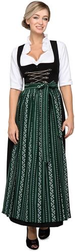 Luxe Lange Dirndl Klassiek Amber (96cm, zwart)