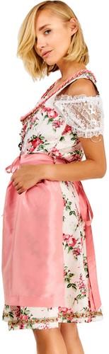 Luxe Roze Dirndl Lotta met Bloemen (3 delig) -2