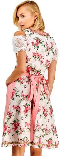Luxe Roze Dirndl Lotta met Bloemen (3 delig) -3