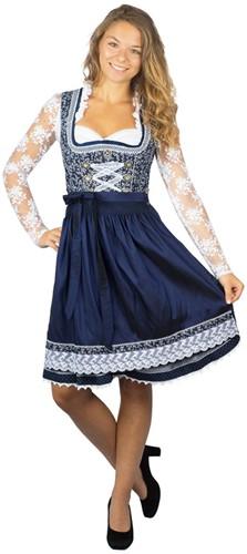 Luxe Dirndl Taduna Donkerblauw (55cm)-3