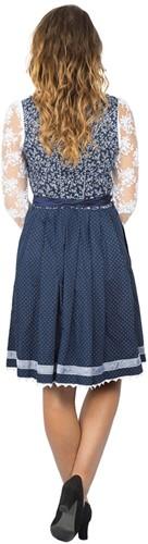 Dirndl Taduna Donkerblauw Luxe (55cm) (model achterkant)