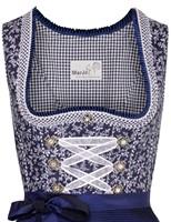 Dirndl Taduna Donkerblauw Luxe (55cm) (detail bovenkant)