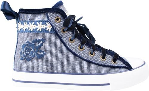 Trachten Sneaker Valentine voor dames (blauw)-2