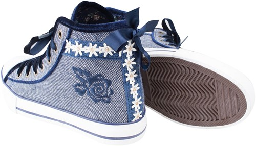 Trachten Sneaker Valentine voor dames (blauw)-3