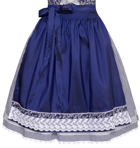 Dirndl Taduna Donkerblauw Luxe (55cm) (detail rok)